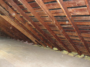 A Indiana attic before installation of SuperAttic