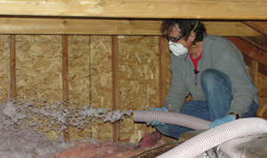 Fiberglass insulation installed Indiana
